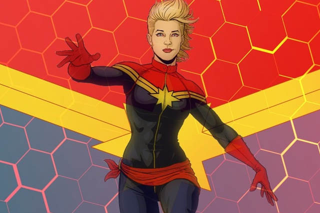 captain marvel comic looks