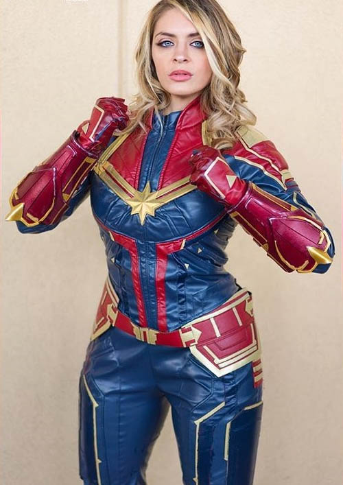 captain marvel cosplay costumes show