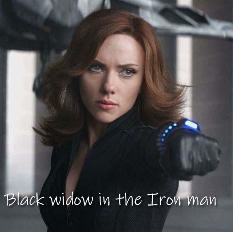 Black widow in the Iron man